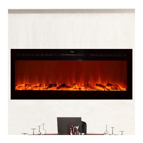 Touchstone Sideline In Wall Recessed Electric Fireplace