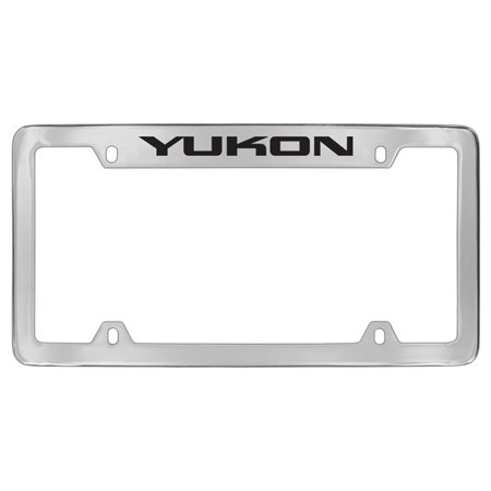 Gmc Yukon Chrome Plated Metal Top Engraved License Plate Frame Holder