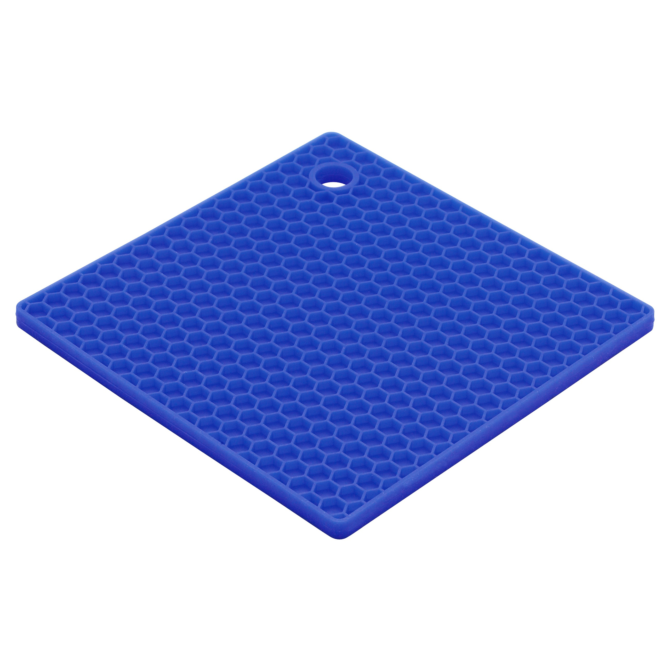 Harold Import Company 7 x 7 In. Honey Comb Trivet, Blueberry