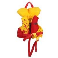 Seachoice 86100 Type II Deluxe Children?s Vest with Grab Handle, Bright Yellow and Red, Infant Sized (Under 30 Pounds)