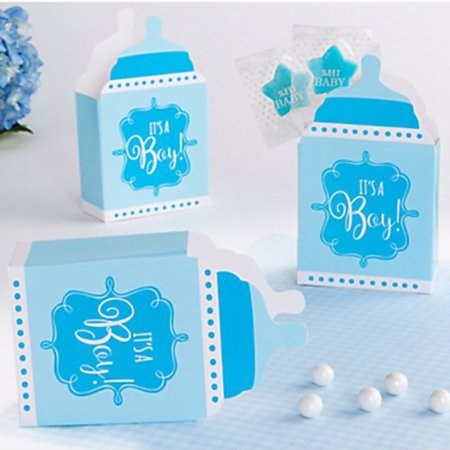 Baby Shower 'It's a Boy' Bottle Shaped Favor Boxes (24ct) - Baby Shower Bottle Favors