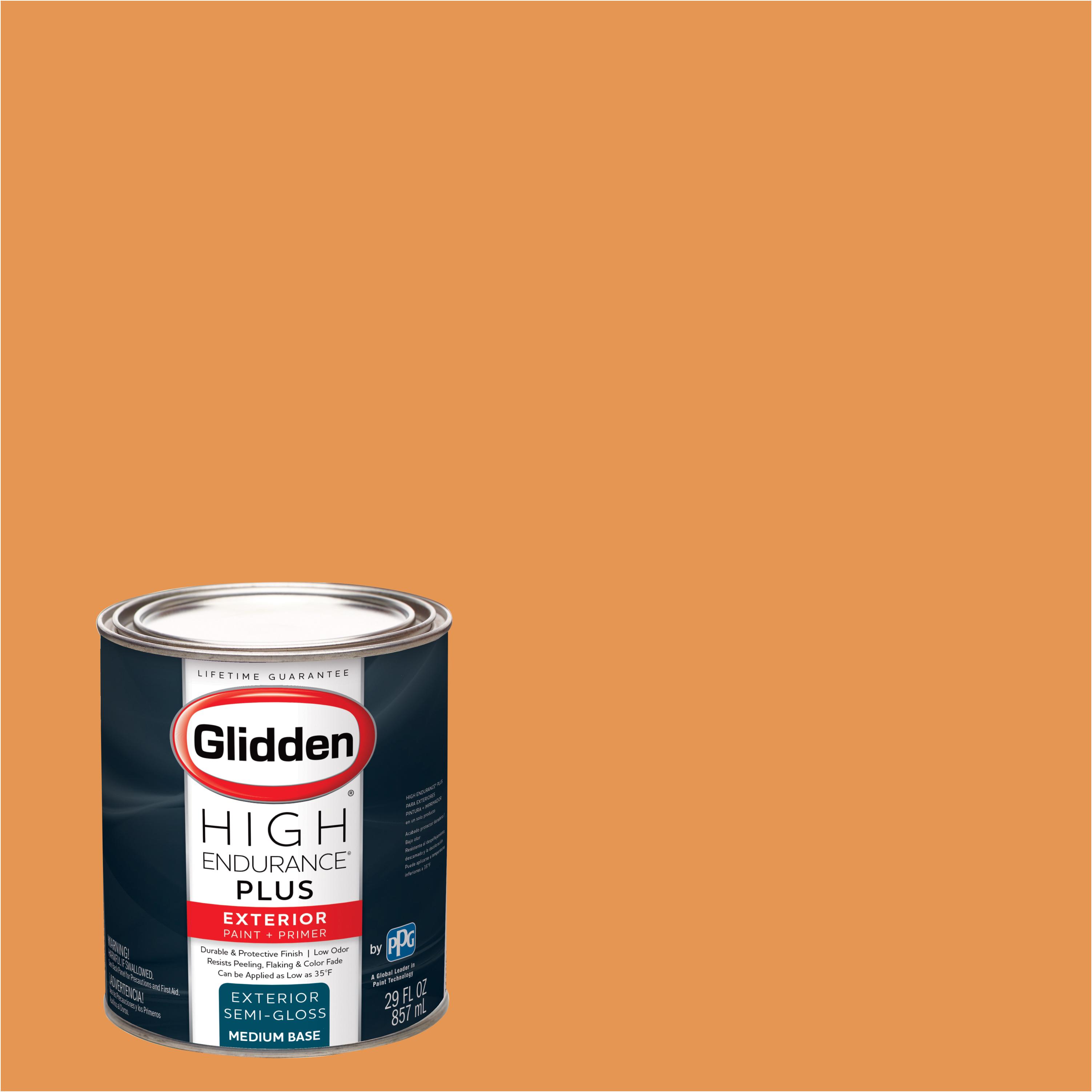 Glidden High Endurance Plus Exterior Paint and Primer, Orange Slice, #83YR 44/540