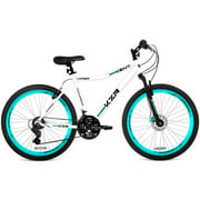 "26"" Women's Kent KZR Mountain Bike, White/Teal"