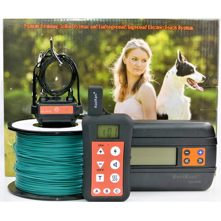 One-dog Set: Remote Dog Training Shock Collar & Underground/ In-ground Electronic Dog Containment Fence System Combo for Small,Medium,Large