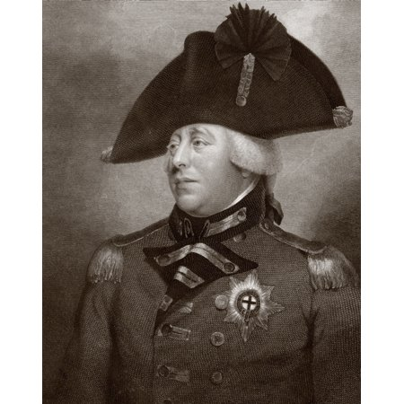 King George Iii Of Great Britain And Ireland 1738 - 1820 After A Contemporary Engraving PosterPrint