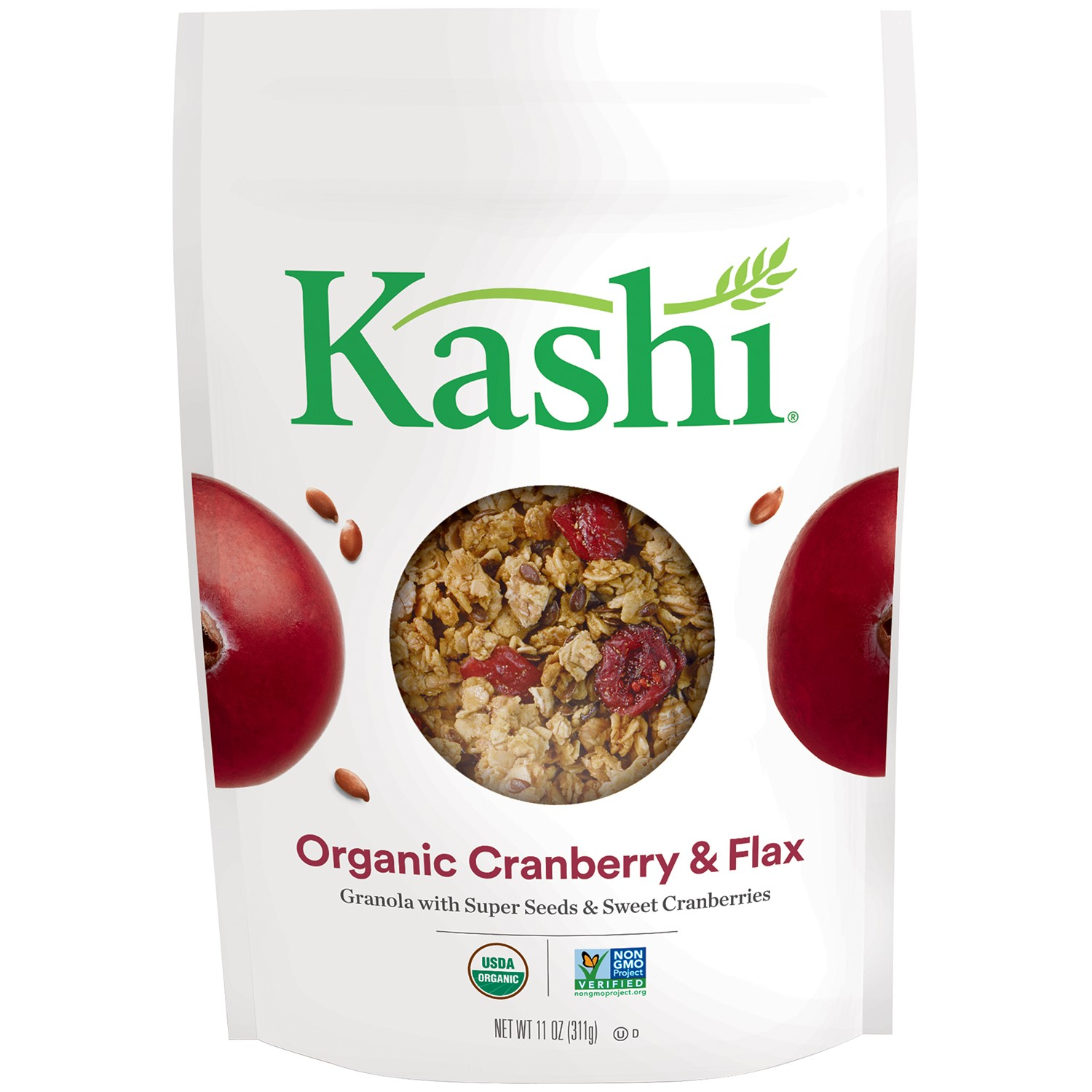 Kashi Organic Granola, Cranberry and Flax, 11 Oz