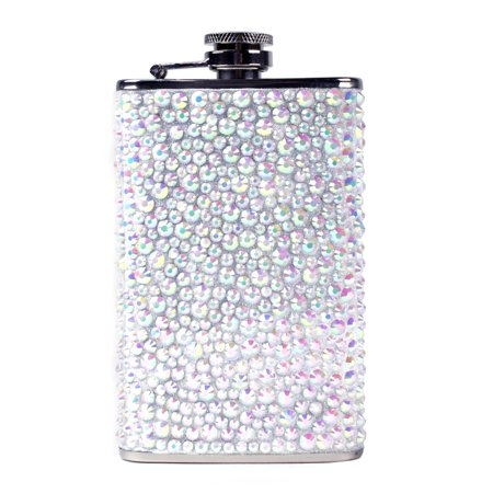 Stainless Steel Rhinestones Glitter Liquor Hip Flask Bachelorette Party Wedding Gift - Bachelorette Gear