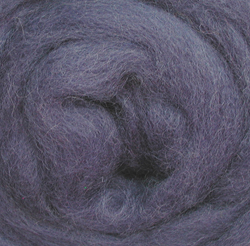 Wistyria Editions Ultra Fine 12 Wool Roving .22 Oz: Periwinkle Multi-Colored