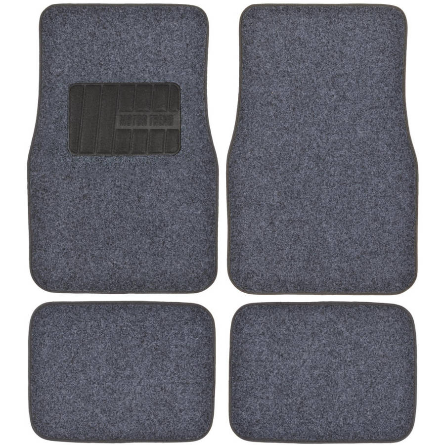 Motor Trend Permium Carpet Car Floor Mats - 4 Pieces Thick Carpet Cushion Mat