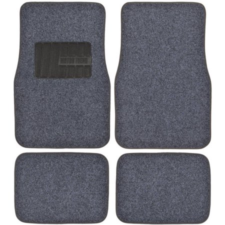 Motor Trend Permium Carpet Car Floor Mats - 4 Pieces Thick Carpet Cushion Mat Carpet Floor Mats Rear Wheel