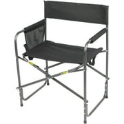 Ozark Trail Comfort Director Chair with Side Pocket, Black