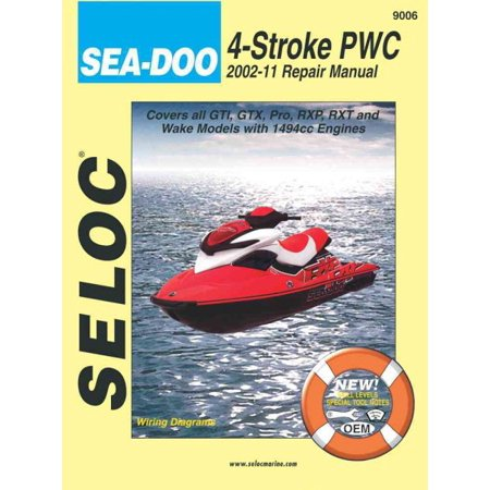 Sea Doo Personal Watercraft  2002 11 Repair Manual All 4 Stroke Models