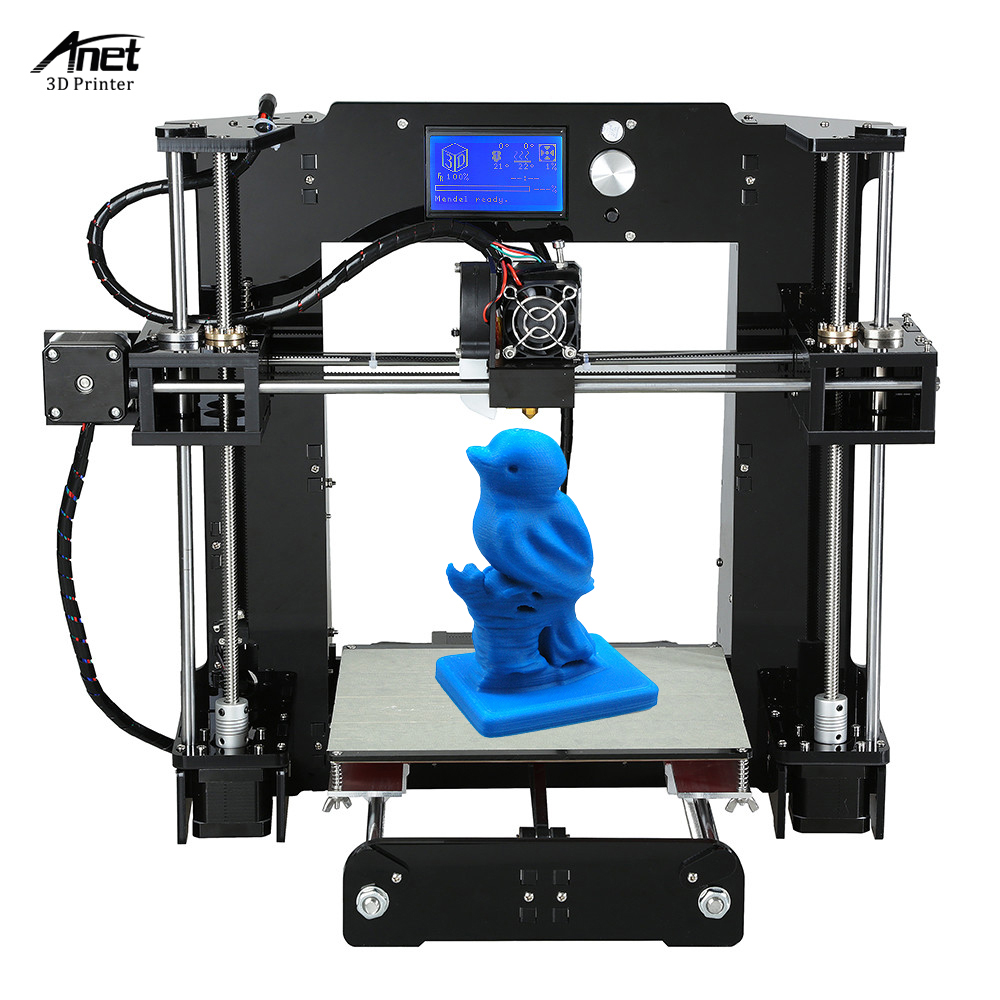Anet A6 High Precision Big Size Desktop 3D Printer Kits Reprap i3 DIY Self Assembly LCD Screen with 16GB SD Card