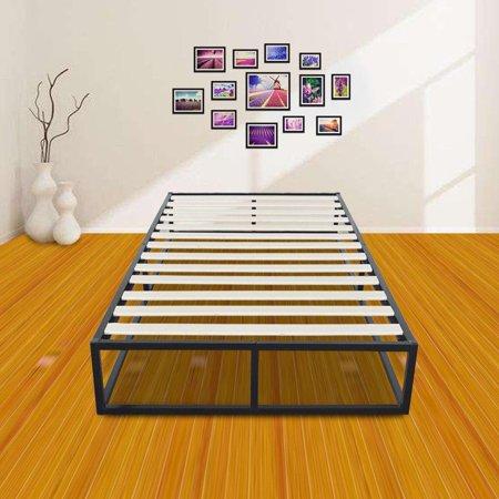 Ktaxon Bed Frame Simple Basic Iron Bed Twin Size Black Walmart Com Walmart Com