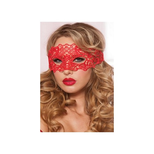 Red Galloon Lace Eye Mask 40132 by Seven til Midnight Red One Size Fits All, One Size Fits All