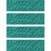 Tucker Murphy Pet Beaupre Aquamarine Leaf Stair Tread (Set of 4)