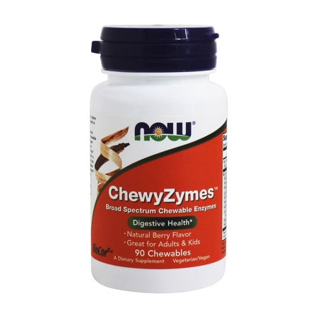 NOW Foods - ChewZymes Digestive Health Berry - 90 Chewable Tablets