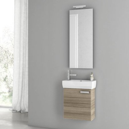 ACF by Nameeks ACF C01-LC Cubical 18-in. Single Bathroom Vanity Set - Larch Canapa