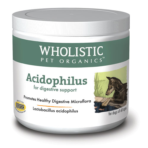 Wholistic Pet Acidophilus 4Oz Natural And Organic Probiotic Supplement