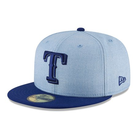cf38ee92 Texas Rangers New Era 2018 Father's Day On Field 59FIFTY Fitted Hat - Light  Blue