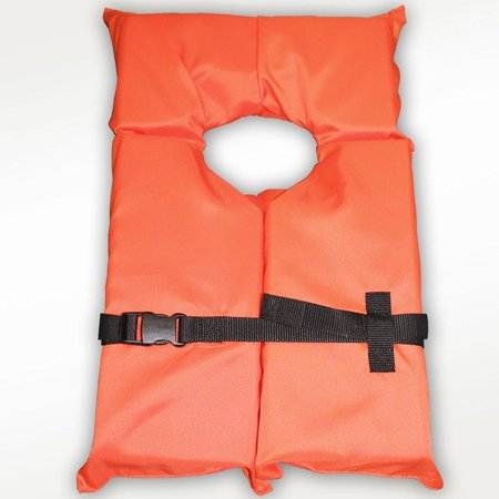 Type II Orange Life Jacket Vest PFD - Adult Universal - Coast Guard Approved, USCG Approved Type II By - Adult Universe