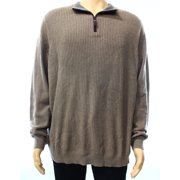 Tasso Elba NEW Beige Mens Size XL Quarter Zip Ribbed Pullover Knit Sweater