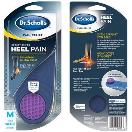 Dr. Scholl's Pain Relief Orthotics for Heel for Men, 1 Pair, Size 8-12