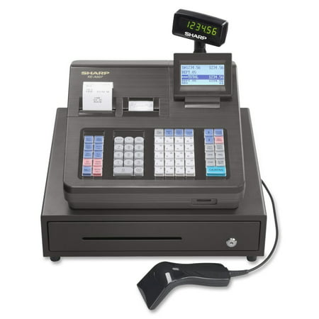 Sharp XE Series Cash Register w/Scanner, Thermal Printer, 7000 Lookup, 40 Clerks,