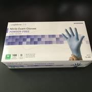 McKesson Confiderm 3.8 Non-Sterile Nitrile Exam Glove 14-686, Medium, Standard Cuff Length, Box of 100, Blue
