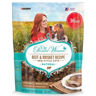 The Pioneer Woman Grain-Free Beef/Brisket Recipe BBQ Style Dog Treats (36 oz.) - Bbc Food Halloween Treats
