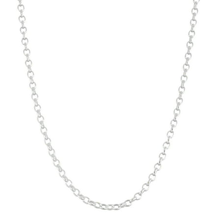 Sterling Silver Rolo Chain Necklace 24 Inches