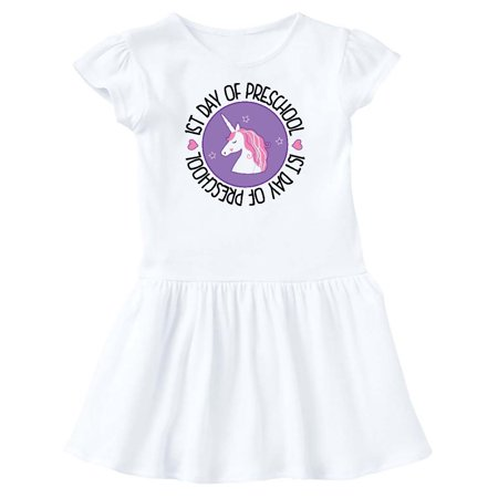 First Day of Preschool Girl Unicorn Toddler Dress - Girl First Day Of School