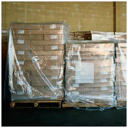 PC515 48 In x 42 In x 48 In 2 Mil Clear Pallet poly bags Covers & Bin Liners protect large items from dirt & dust CASE OF -