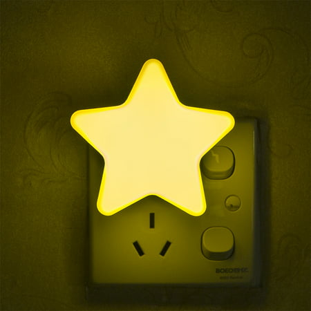 Smart Light Sensor Star-shape LED Bed Light Night Lamp Home Office Decoration Gift