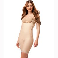 Isavela BS03 Body Suit w/ Suspenders & Zipper on Both Sides-Lge-Beige - Sparkle Suspenders