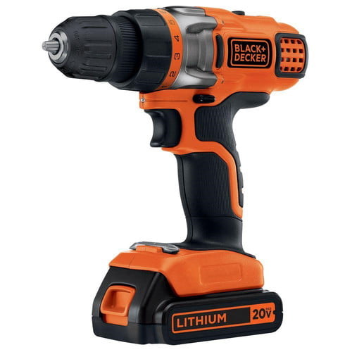 "Black & Decker LDX220C 2 Speed 3 8"" 20V Lithium Cordless Drill by Stanley Black & Decker"