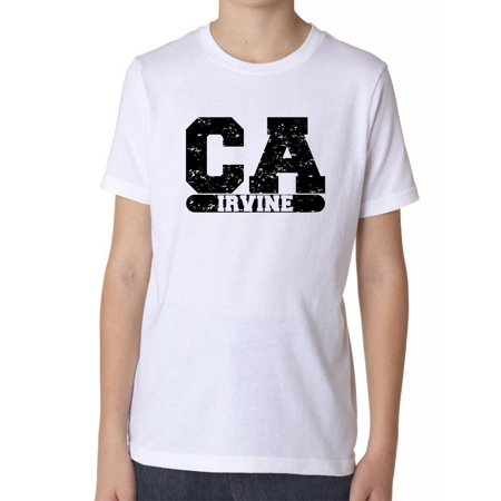 Irvine, California CA Classic City State Sign Boy's Cotton Youth T-Shirt