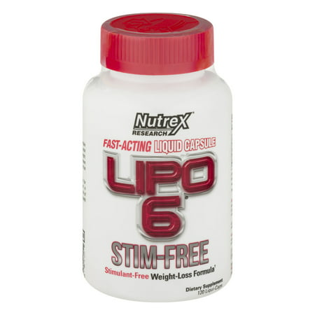 Nutrex Research LIPO 6 Stimulant Free Weight Loss Formula, Liquid Capsules, 120 Ct (Lipo Chassis)