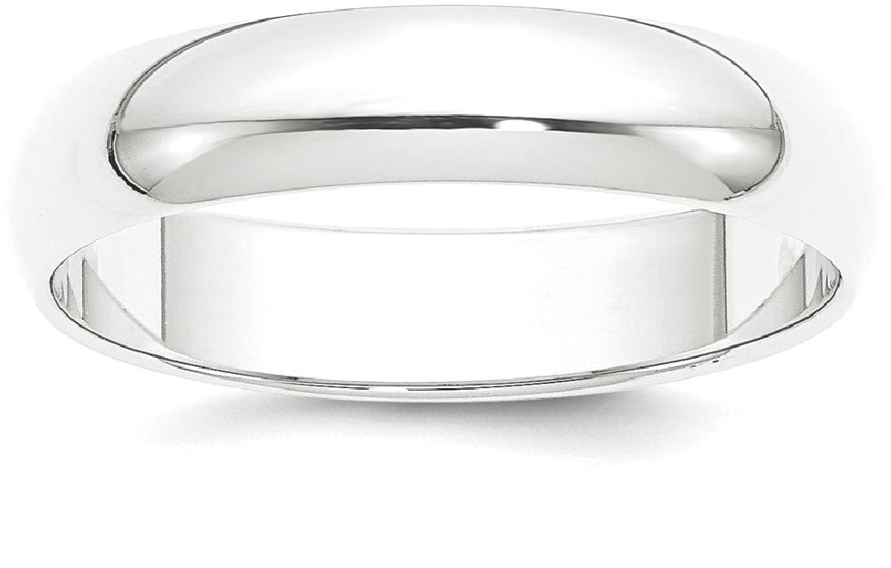 IceCarats Platinum 5mm Half Round Wedding Ring Band Size 10.50 Classic Domed by