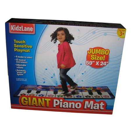 - Kidzlane Durable Piano Mat, 10 Selectable Sounds, Play and Record, For Kids 3+, Dance and Learn