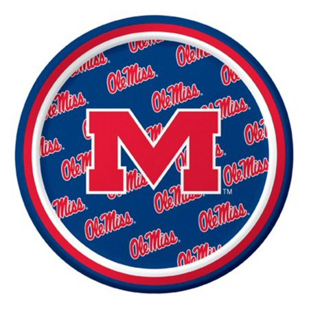 Ole Miss Party Supplies (Pack of 96 NCAA Ole Miss Rebels Round Tailgate Party Paper Plates)