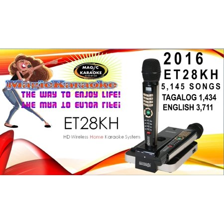 new 5 145 songs mix tagalog english 2016 et28kh magic sing onstage karaoke mic. Black Bedroom Furniture Sets. Home Design Ideas