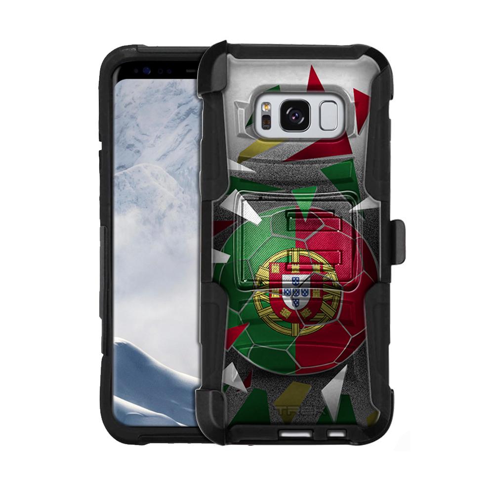 Samsung Galaxy S8 Armor Hybrid Case Soccer Ball Portugal Flag by Trek Media Group