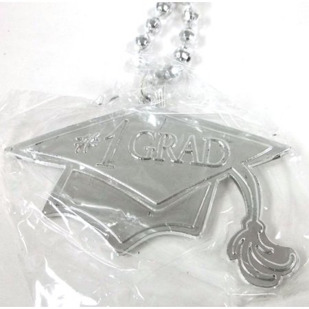 Silver #1 Grad Cap Tassel Graduation Double Sided Mardi Gras Disco Ball Bead](Mardi Gras Ball Gowns)