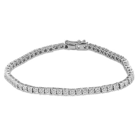 Illusion TK1001W-B 14K 2 Carat Diamond 4 Prong Illusion Tennis Bracelet 2 Prong Diamond Tennis Bracelet