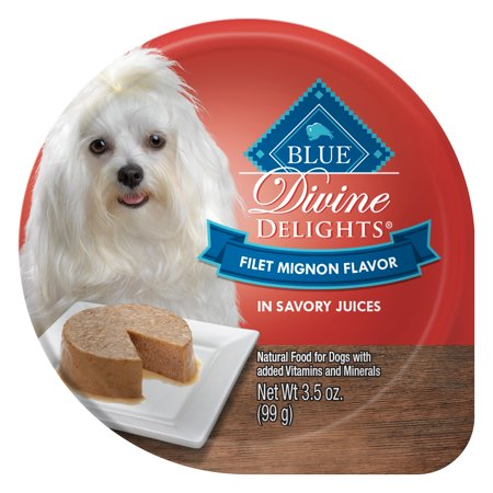 Blue Buffalo Delights Natural Adult Small Breed Wet Dog Food Cup, Filet Mignon Flavor in Savory Juice 3.5-oz (Pack of 12) Blue Buffalo Beef