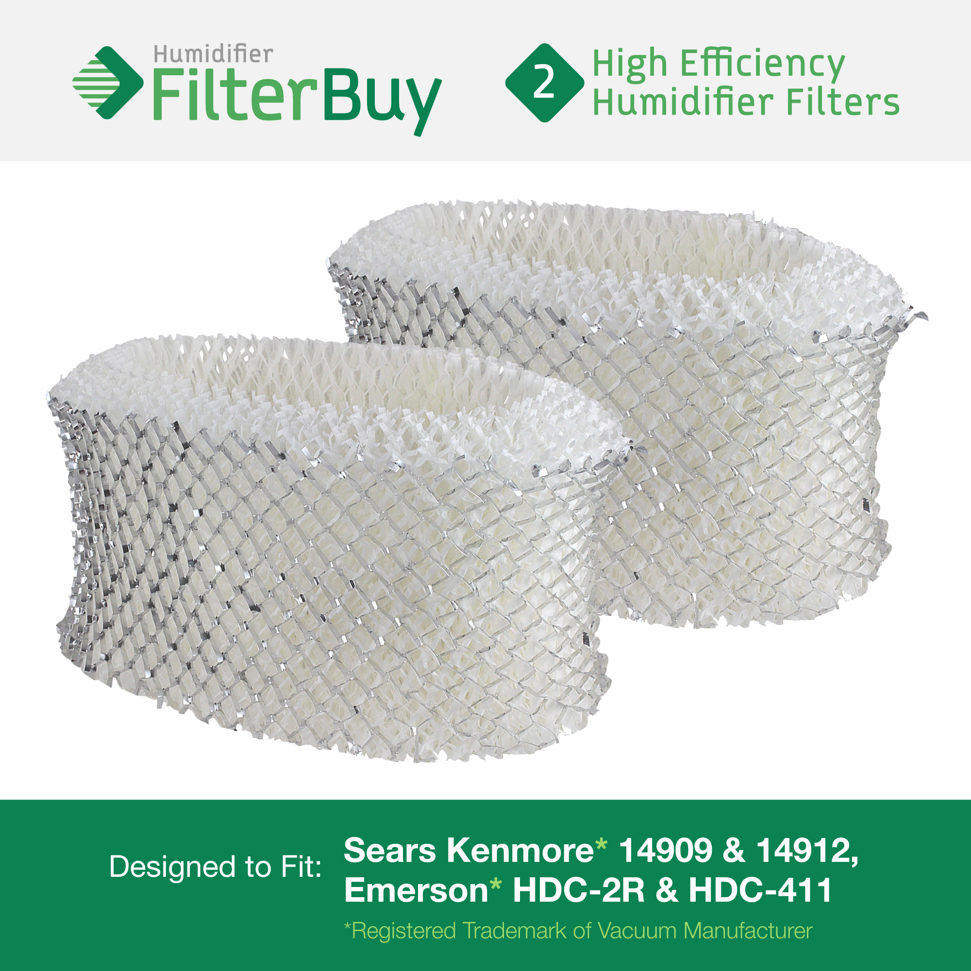6 REPL Kenmore 14906 /& Emerson MAF1 Humidifier Wick Filters Part # 42-14906