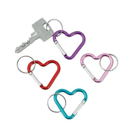 Fun Express - Aluminum Heart Clip Key Chain Asst for Valentine's Day - Apparel Accessories - Key Chains - Novelty Key Chains - Valentine's Day - 12 (Valentine Travel Express)