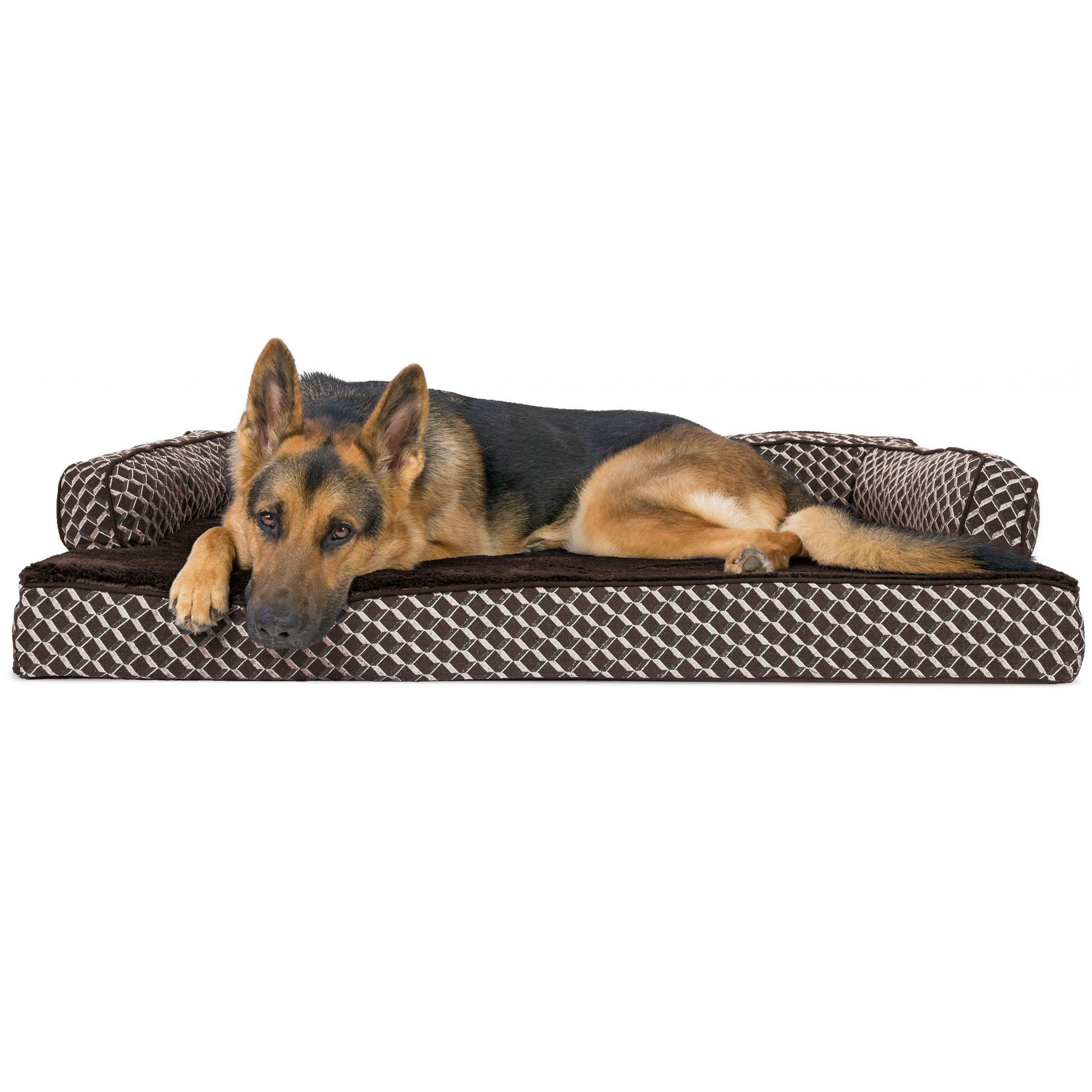 FurHaven Plush & Décor Comfy Couch Orthopedic Sofa-Style Pet Bed Dog Bed
