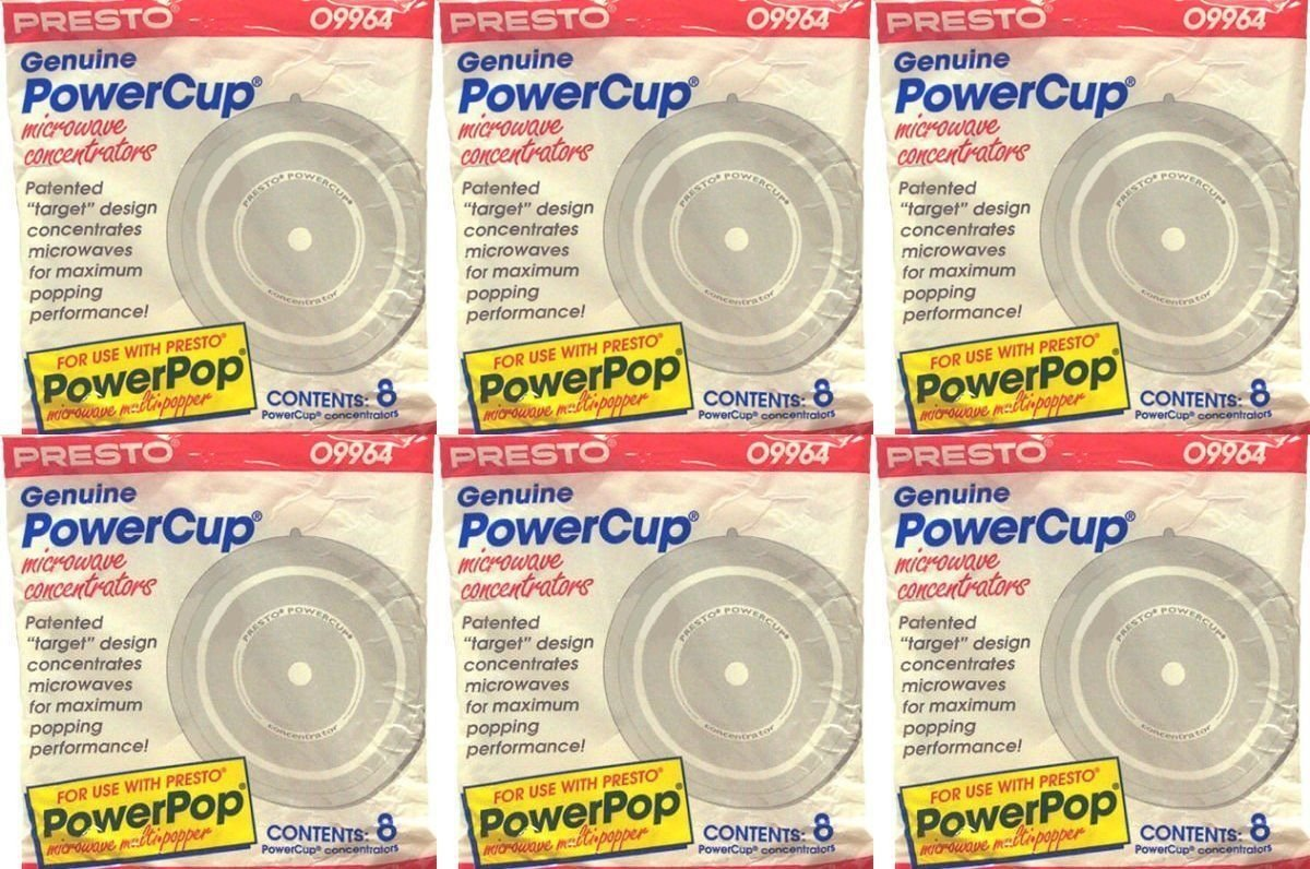 Presto 09964 Microwave Power Pop PowerCup Popcorn Concentrator Cup 48 Pack